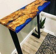 میز چوبی استند رزین اپوکسی